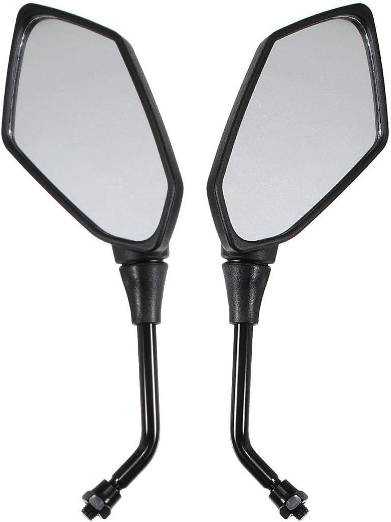 UNIVERSAL Mirrors TOOGOO R UNIVERSAL 10MM MIRRORS retroviseur moto ALUMINIUM NOIR