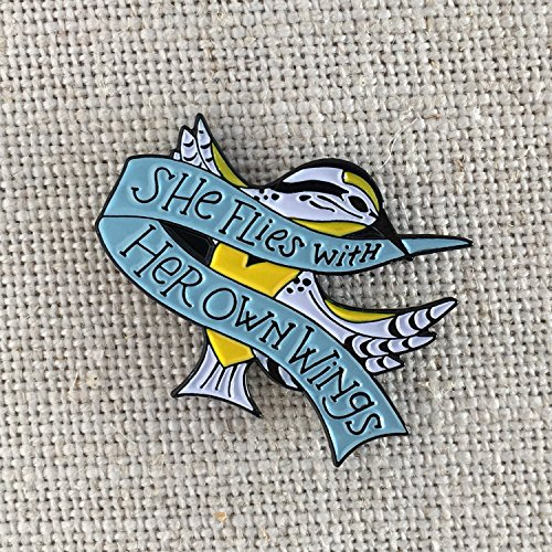 She Flies With Her Own Wings Enamel Lapel Pin