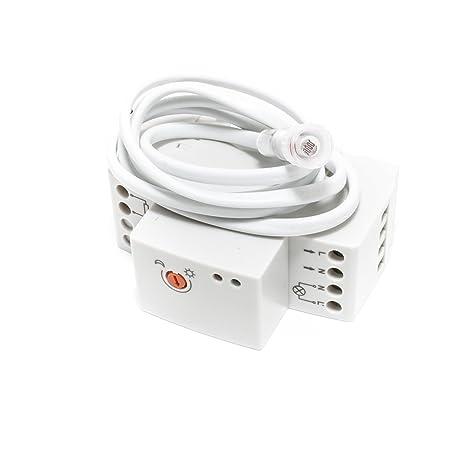 Interruptor crepuscular Rele 220 V DIN Detector Sensor Luz LED halógena