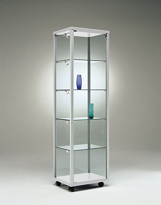 MHN Moderna vitrina expositora de cristal de seguridad, con ...