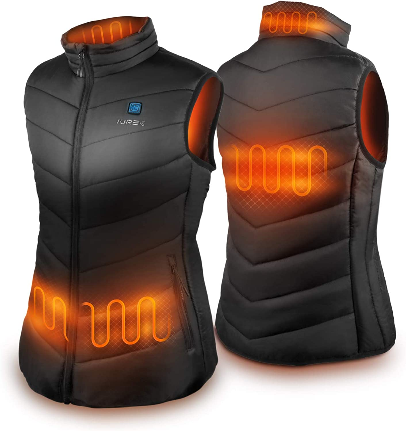 Heated Vest, IUREK ZD932 Women's Heated Clothing with 10000mAh Battery Pack at  Women's Coats Shop