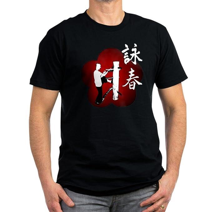 Wing Chun IP Man Hombre bajera camiseta hombre camiseta ajustada oscuro by CafePress: Amazon.es: Ropa y accesorios