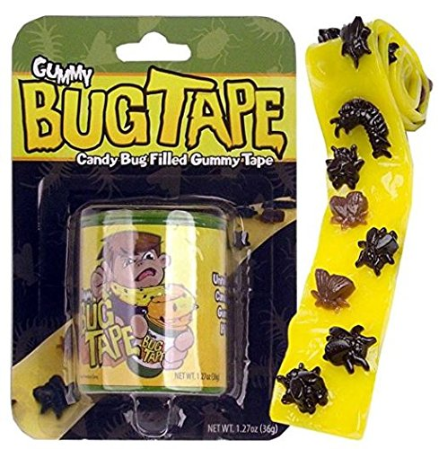 Bug Tape - Candy Bug Filled Gummy Tape (2 Pack) ()