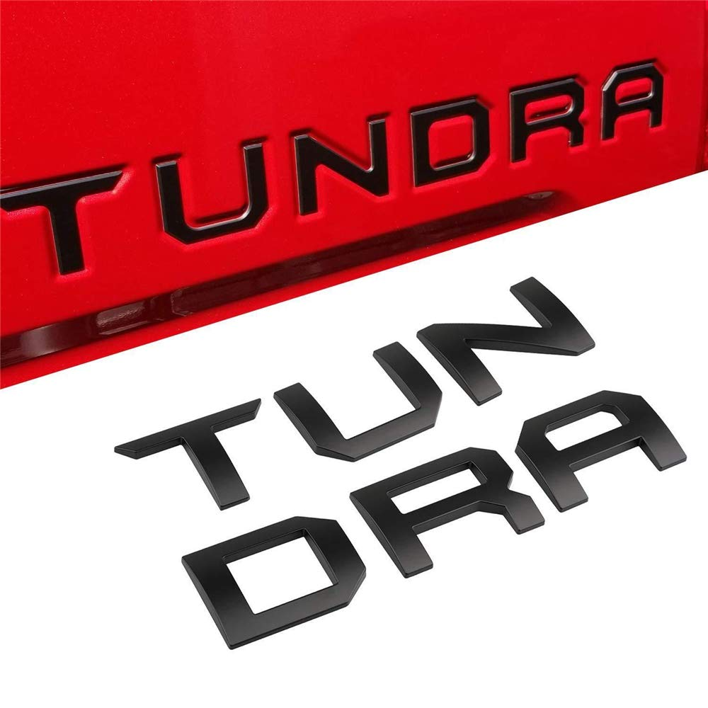 XYGGOO 1PC Tundra Nameplate Rear Tailgate Emblems 3M Adhesive /& 3D Raised Tailgate Decal Letters for Tundra 2014-2019 Chrome