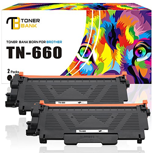 Toner Bank 2 Black Replacemenr Toner for Brother Toner Cartridge TN660 High Yield Mono 2,600 Yield Compatible with Brother HL-L2320D MFC-L2740dw MFC-L2700dw and More