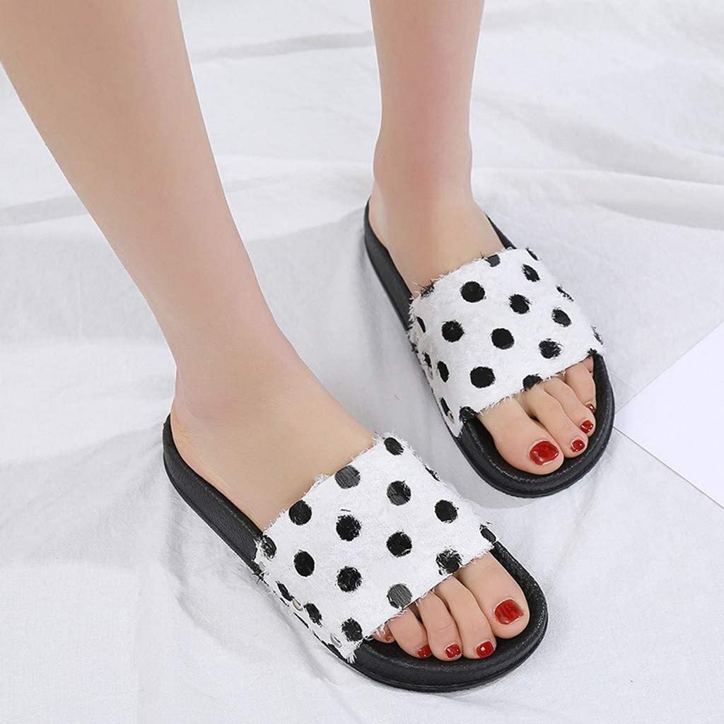 Woman Plus Size Flat Slipper Women Slipper Summer Retro Rome Slipper Fashion Casual Home Slippers Beach Shoes Pure Color Point Print Flock One Band Ankle Strap Flip Flop Slipper