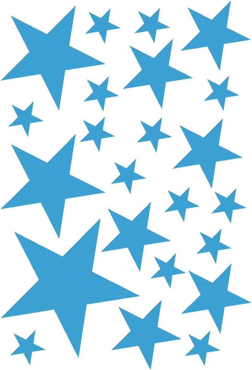 Samunshi/® Sterne Aufkleber Set gef/üllt 14x2,5cm6x5cm2x7,5cm1x10cm grau