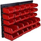Deuba Plastic Bins Kit With Wall Panel 32 Pcs Storage Bin