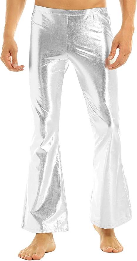 YiZYiF Pantalones Acampanados Hombres Disfraz Hippies Adulto ...
