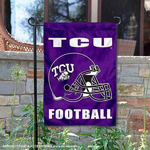 College Flags and Banners Co. Texas Christian University Football Helmet Garden Flag