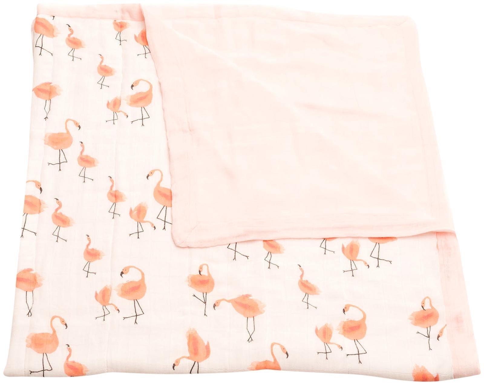 Little Unicorn Deluxe Muslin Blanket Quilt - Pink Ladies