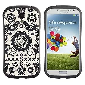 "Hypernova Slim Fit Dual Barniz Protector Caso Case Funda Para SAMSUNG Galaxy S4 IV / i9500 / i9515 / i9505G / SGH-i337 [Patrón Crotcheted Blanco Negro""]"