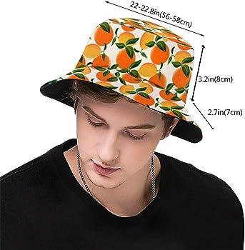 Playa Deportes Senderismo Naranja Unisex Fashion Print Bucket Hat Summer Fisherman Cap Packable Outdoor Sun Hat