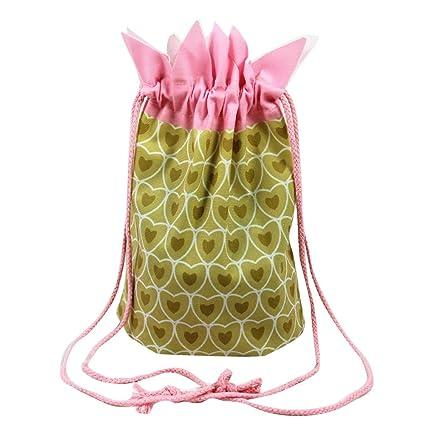 Saco de Bolsillo Estampado de Fresa y Piña Bolsos Pequeño para Mujeres Chicas y Niñas Bolsos
