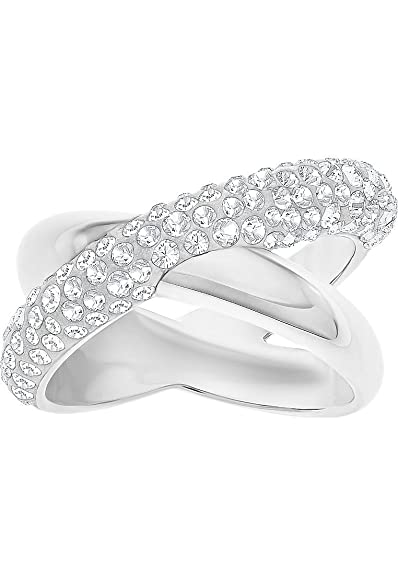 500f1186f Swarovski Crystaldust Cross Ring, 5372894: Amazon.co.uk: Jewellery