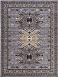 Classic Traditional Geometric Persian Design Area rugs Gray 9' 10 x 13' 1 Qashqai Heriz rug