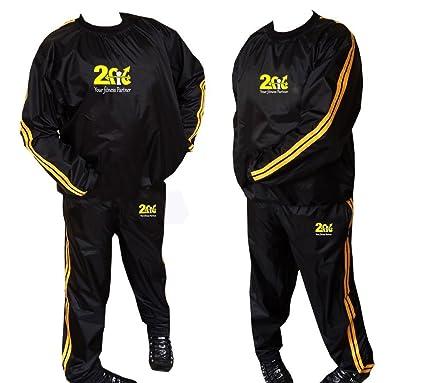Traje de Jogging 2 Fit para hacer ejercicio con efecto de sauna, para pérdida de peso, traje antidesgarres, M-6XL