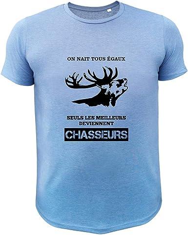 Profil Cerf on nait Tous /égaux Seuls Les Deviennent Chasseur Tee Shirt Chasse