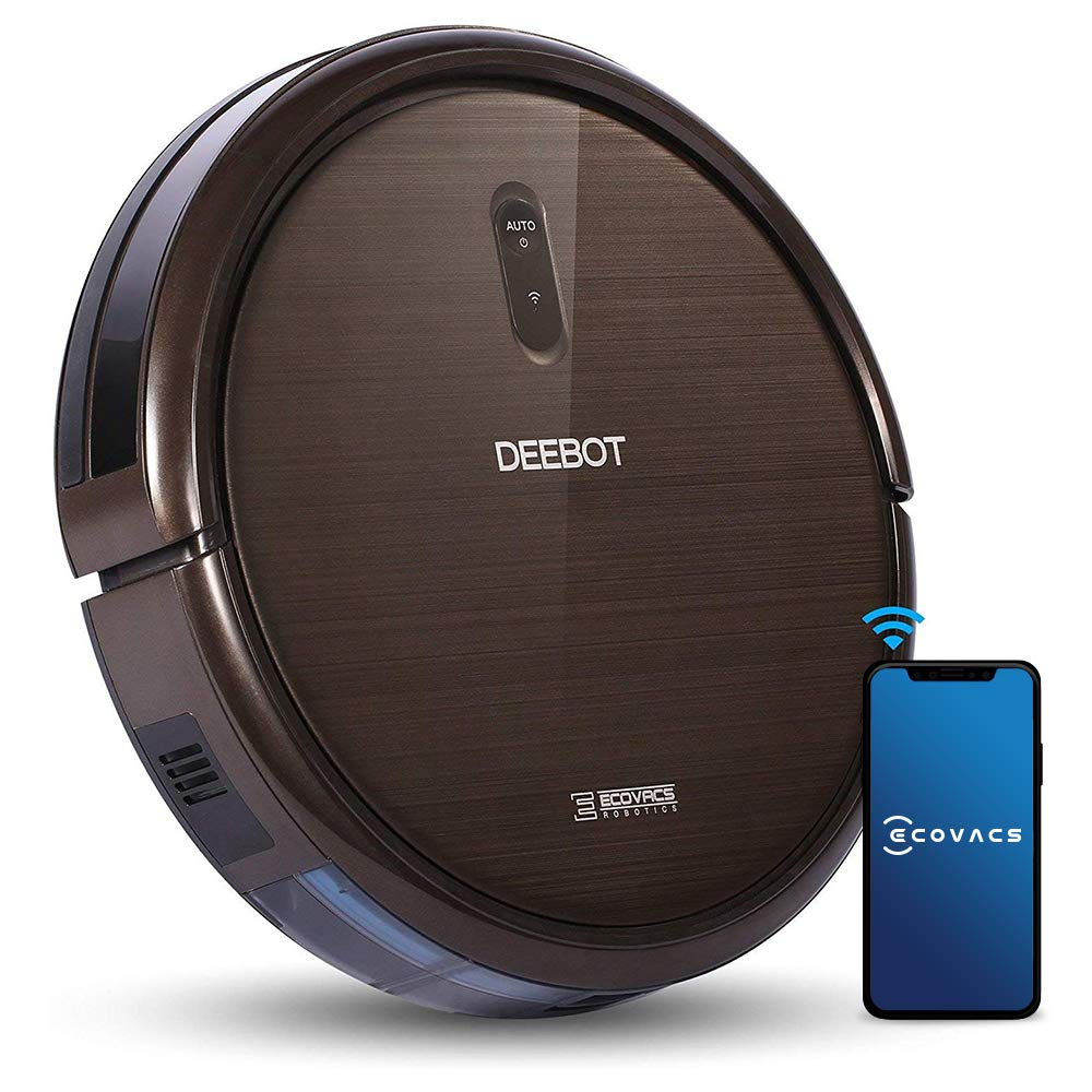 ECOVACS ROBOTICS N79S Robot Vacuum Cleaner High Suction, Auto Self-Charging Robotic Vacuum Cleaner, Drop Sensor, Alexa & App Connect, Works On Hard Floor & Low Pile Carpet, Pet Hair -2 Year Warranty