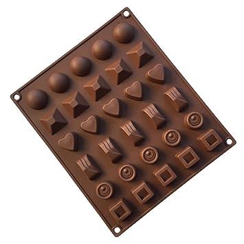 YOKIRIN Molde Silicona Reposteria Estilo de Varias Formas Moldes para Chocolates Caramelo Hogar Herramienta-Distribución al azar de color: Amazon.es: Hogar
