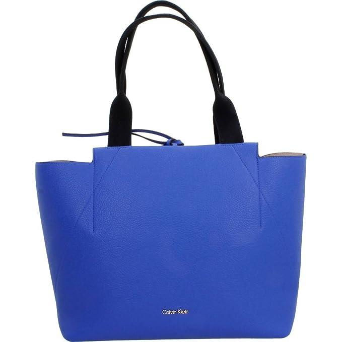 Shoppers y bolsos de hombro para mujer, color Azul , marca CALVIN KLEIN, modelo