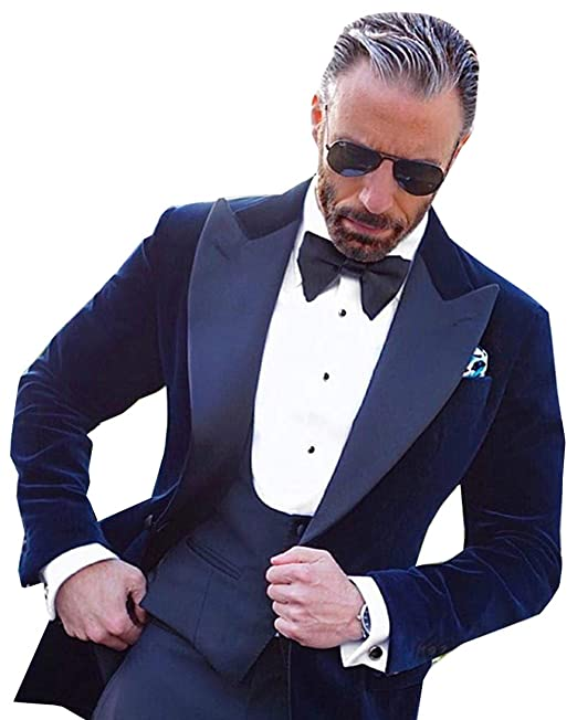 Amazon.com: Fitty Lell - Traje de terciopelo para hombre ...