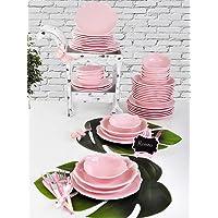 Keramika 6 Kişilik 24 Parça Romeo Yemek Takımı Açık Pembe