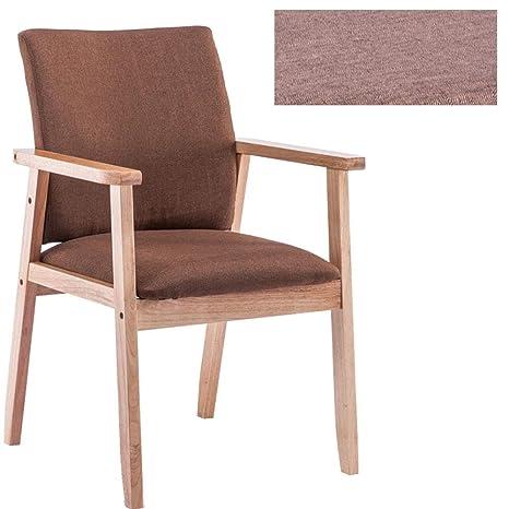 Amazon.com: Silla de comedor simple de madera maciza, silla ...