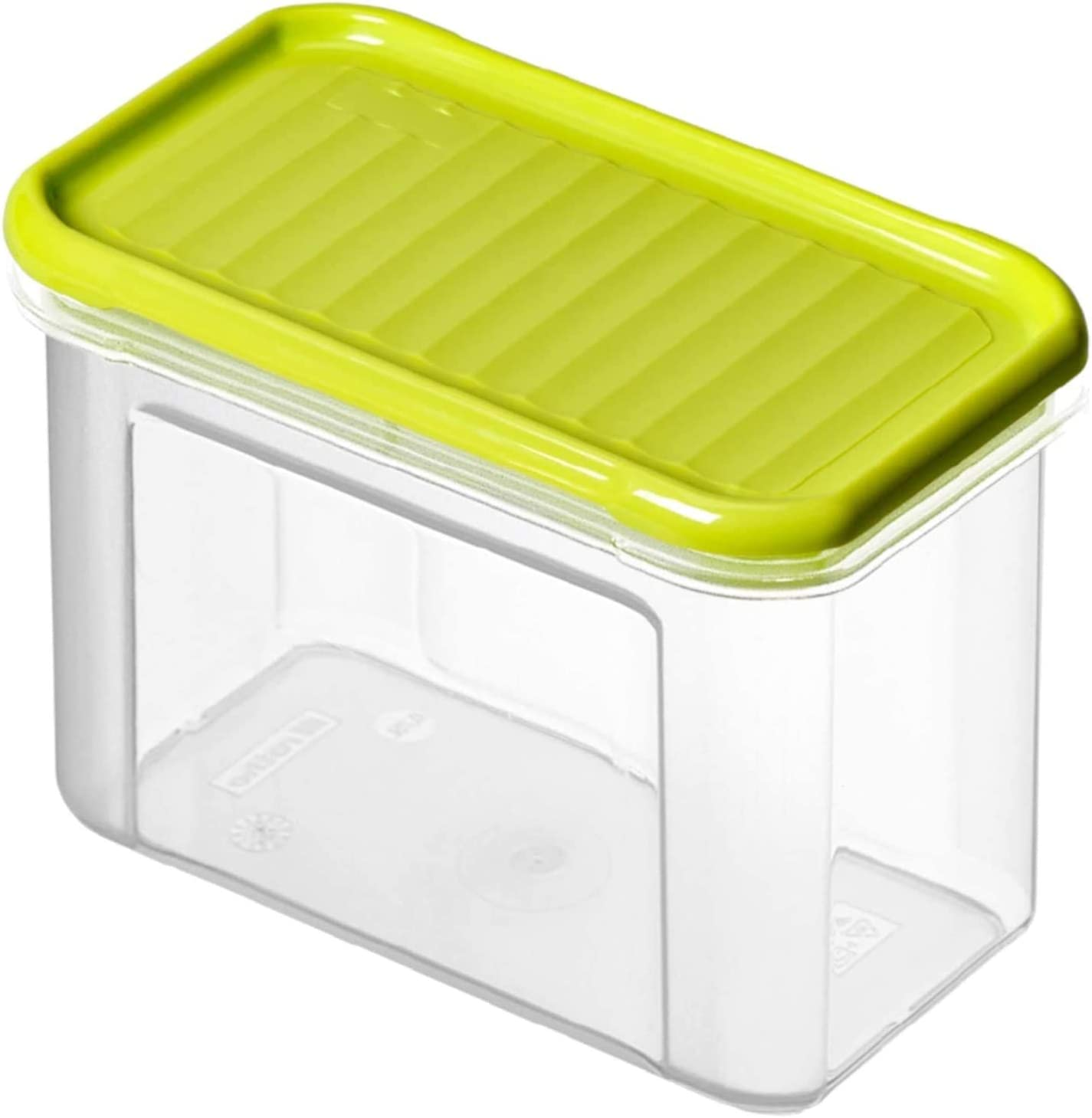 Rotho Domino Vorratsdose 0,75l mit Deckel, Kunststoff (PP) BPA frei, transparentgrün, 0,75l (16,5 x 9,0 x 10,0 cm)