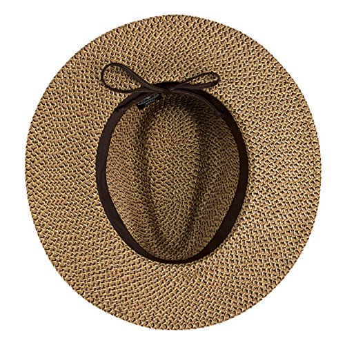 Wallaroo Men's Outback Sun Hat - 100% Paper Braid - Classy Style, Large, Brown