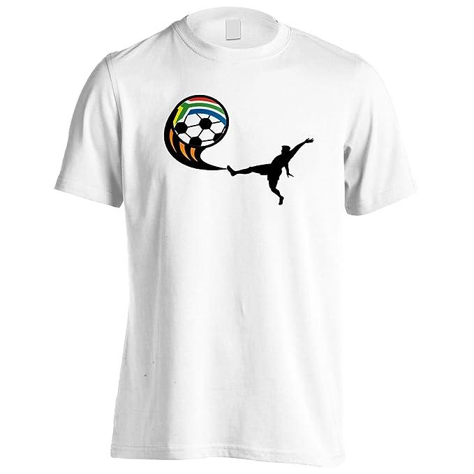 Nueva Copa Del Mundo De Fútbol Sudáfrica Camiseta de los hombres i178m: Amazon.es: Ropa y accesorios
