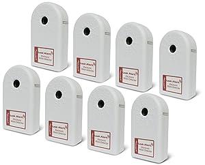 Zircon Contractor Pack of Leak Alert Electronic Water Detectors, Batteries not included, White, 8-Pack