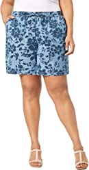 8f9678b0783 Karen Scott Plus Size Floral-Print Soft Shorts