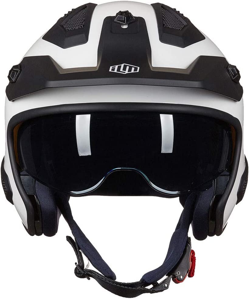 ILM Open Face Motorcycle 3//4 Half Helmet for Moped ATV Cruiser Scooter DOT