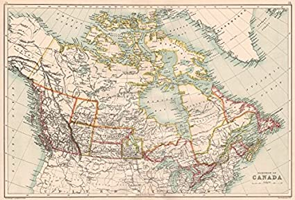 Show Map Of Canada With Its Provinces.Dominion Of Canada Shows Provinces Athabasca Assiniboia 1891 Map