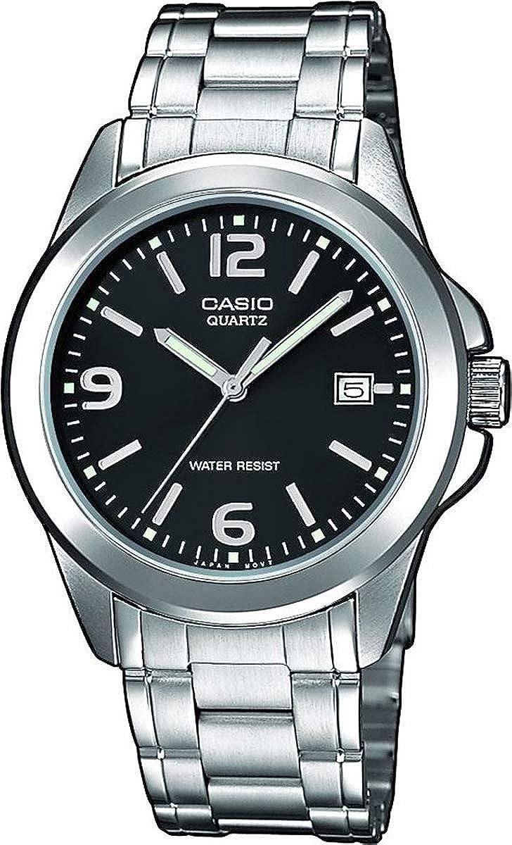 Casio Collection LTP-1259PD-1A, Reloj para Mujer, Acero Inoxidable, Plateado