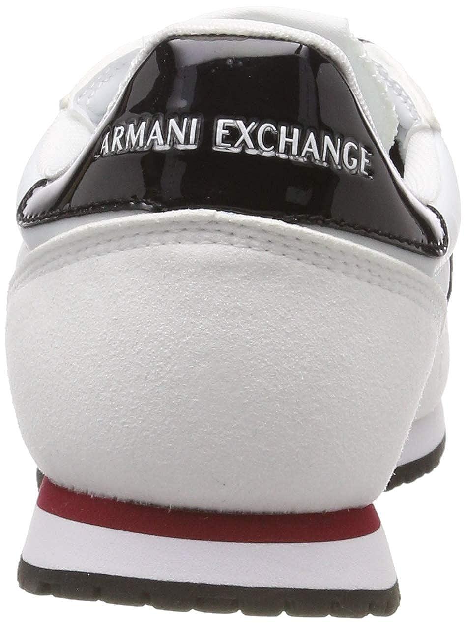 Armani Exchange Damen Damen Damen Microfiber Lace Up Turnschuhe 83257d