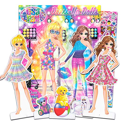 Lisa Frank Paper Dolls Activity Set -- 2 Paper Dolls, 4 Paper Pets, 275 Lisa Frank Stickers, Coloring Pages, 200 Fashion Combinations (Lisa Frank Party Supplies) (Doll Paper)