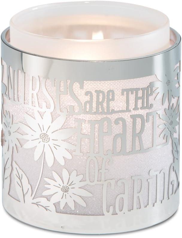 3-3//4-Inch Nurse Pavilion Gift Company 17011 Simply Shining Hurricane Candle Holder