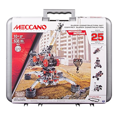 Meccano Erector Super Construction Set, 25 Motorized Model Building Set, 638 (Motorized Erector Set)