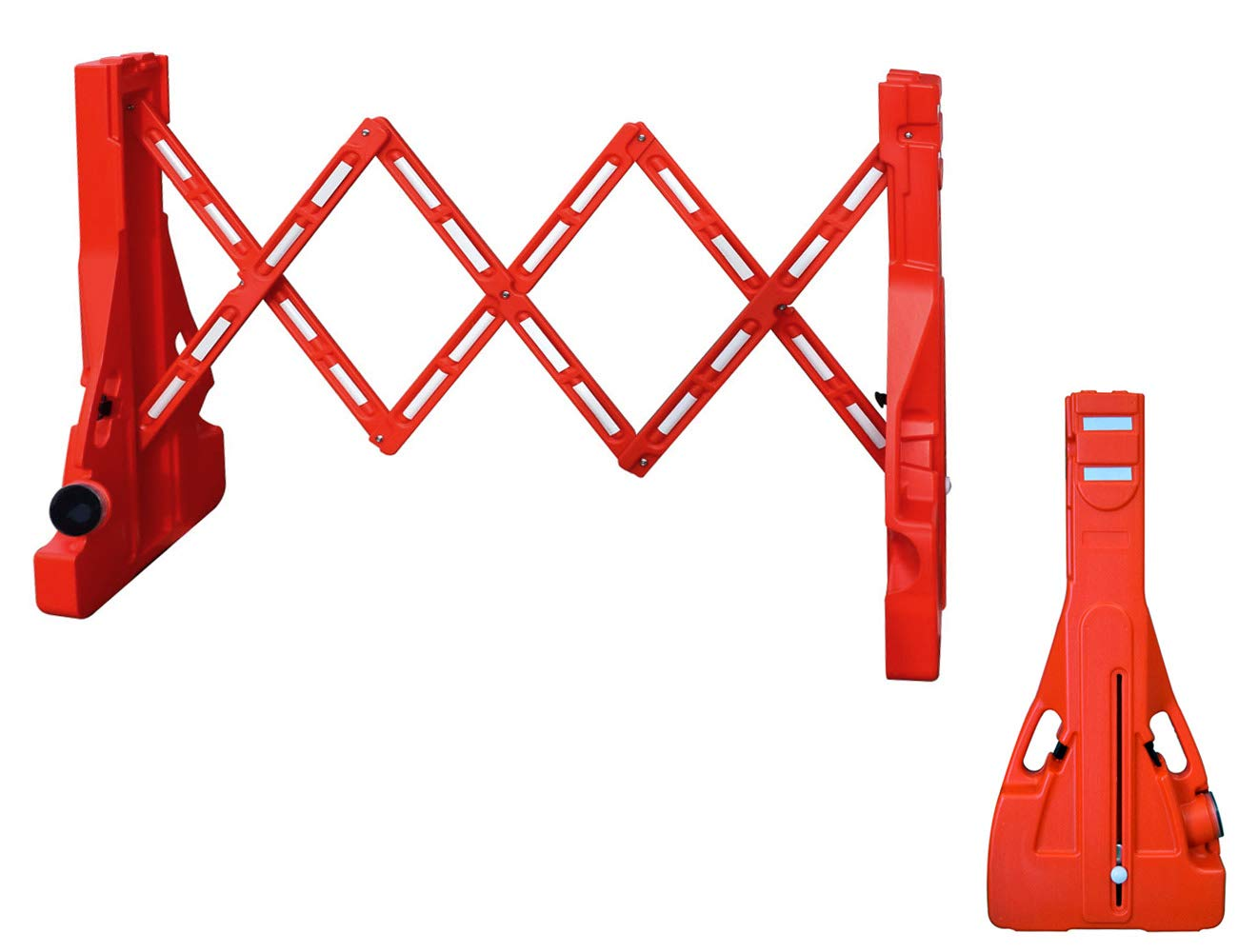 Electriduct 7.5 Feet Temporary Safety Expandable Gate Portable Barrier Crowd Control Barricade (3.5 Feet High)