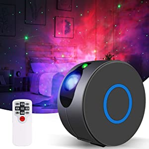 Galaxy Projector, Capaboo Dynamic Christmas Projection Lights Star Projector Night Light for Kids Bedroom Decor Party