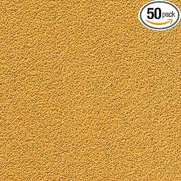 50 Pack 6 Inch 80 Grit Gold Hook and Loop Sanding Discs