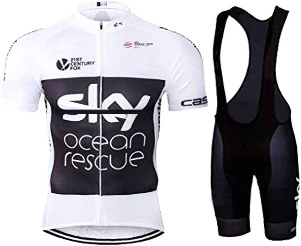 ZCFXJiTuanYZ outdoor sports jersey cycling clothing short sleeve shirt bib shorts breathable and quick drying in spring and summer
