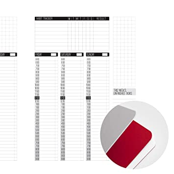 amazon com aura estelle a5 planner refill insert timeslot layout
