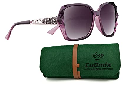 eec03faedac Women s Polarized Sunglasses CuOmix Shades Classic Oversized Driving  Sunglasses 100% UV Protection Eyewear CuO27 (