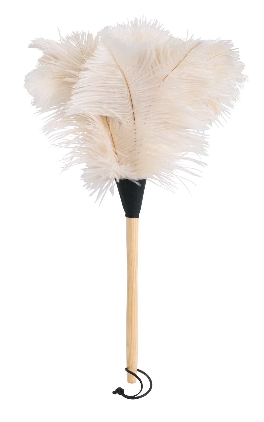 REDECKER Ostrich Feather Duster with Varnished Wooden Handle, White, 19-3/4-Inches, Set of 2 by REDECKER