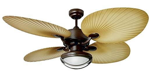 yosemite home decor california breeze 52 inch outdoor ceiling fan with light kit chocolate - Yosemite Home Decor