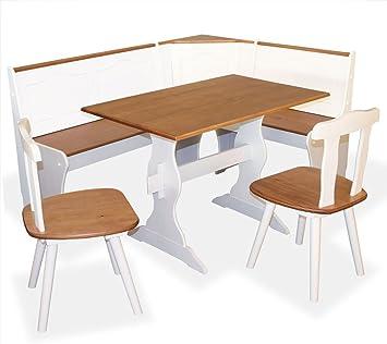 Eckbank landhausstil shop  KMH®, 4-teilige Eckbankgruppe *Daniela* aus massivem Holz im ...