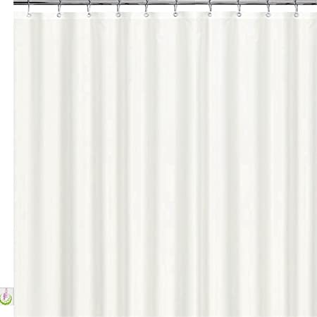 Thick Heavy Duty Waterproof Shower Liner Solid Beige Heavyweight Shower Curtain Liner 70 x 72 with Grommet Holes